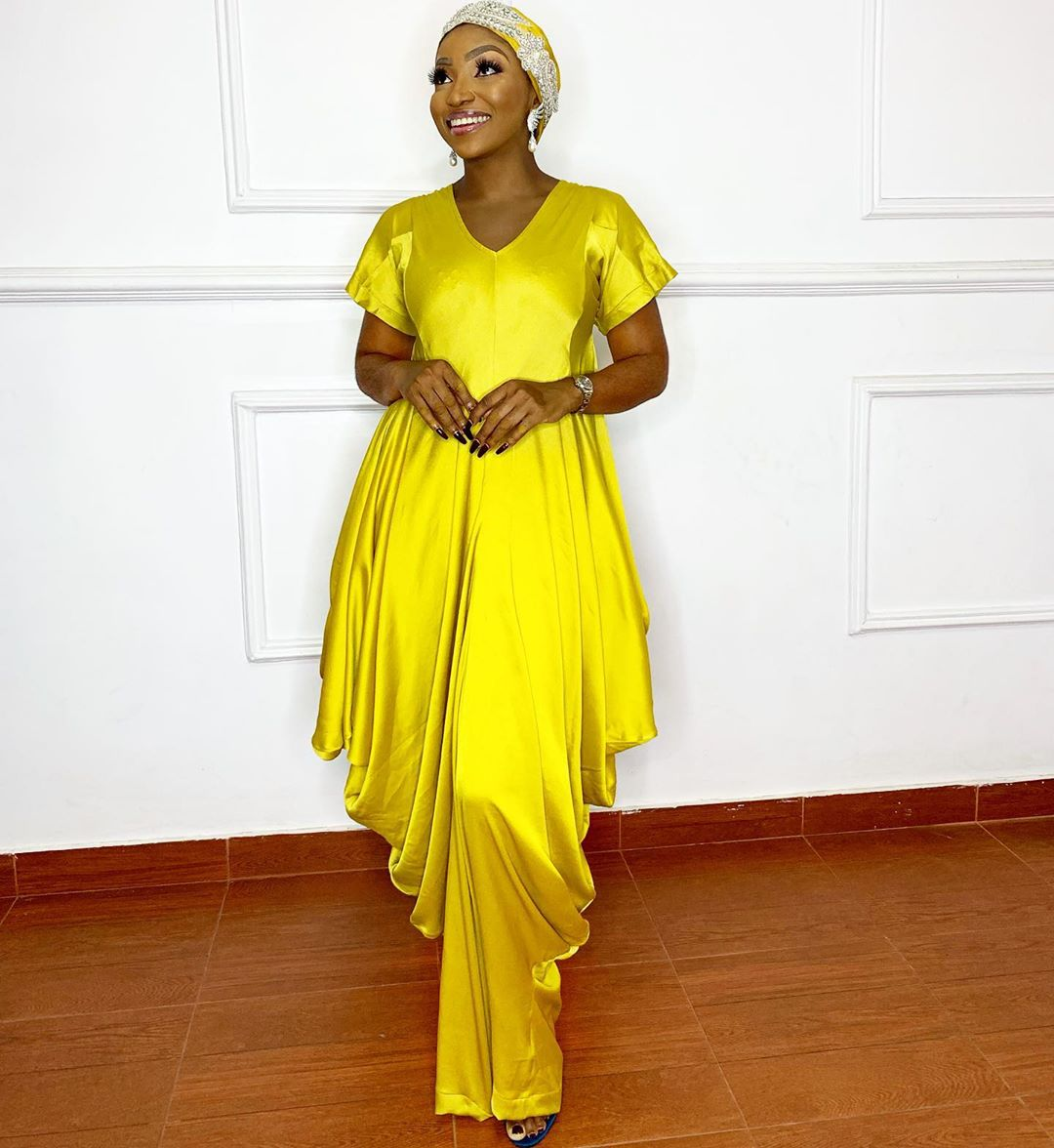 Yellow traditional long dress