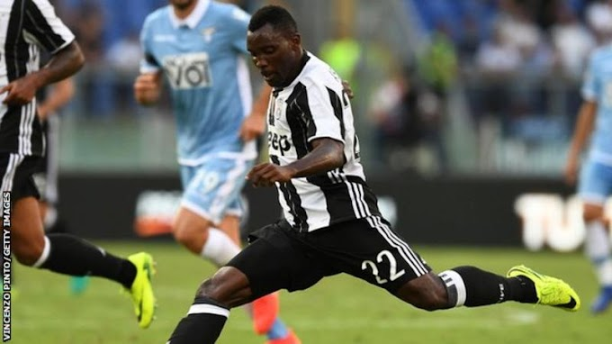 Juventus confirm Ghana's Asamoah will be out 'for 45 days'