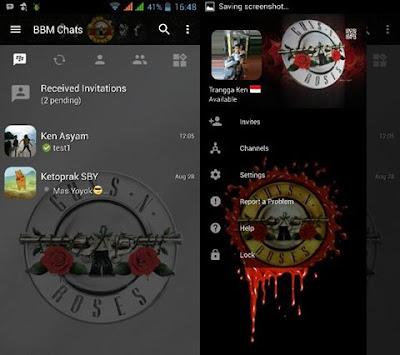 BBM Guns and Roses v3.0.1.25 APK MOD Terbaru By Trangga Ken
