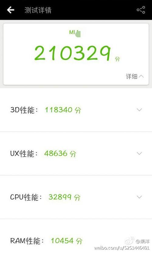 Benchmark Xiaomi Mi6