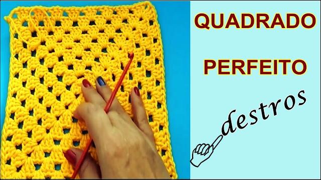 Quadrado Perfeito em Crochê Perfect Grany Square Edinir Curso de Croche