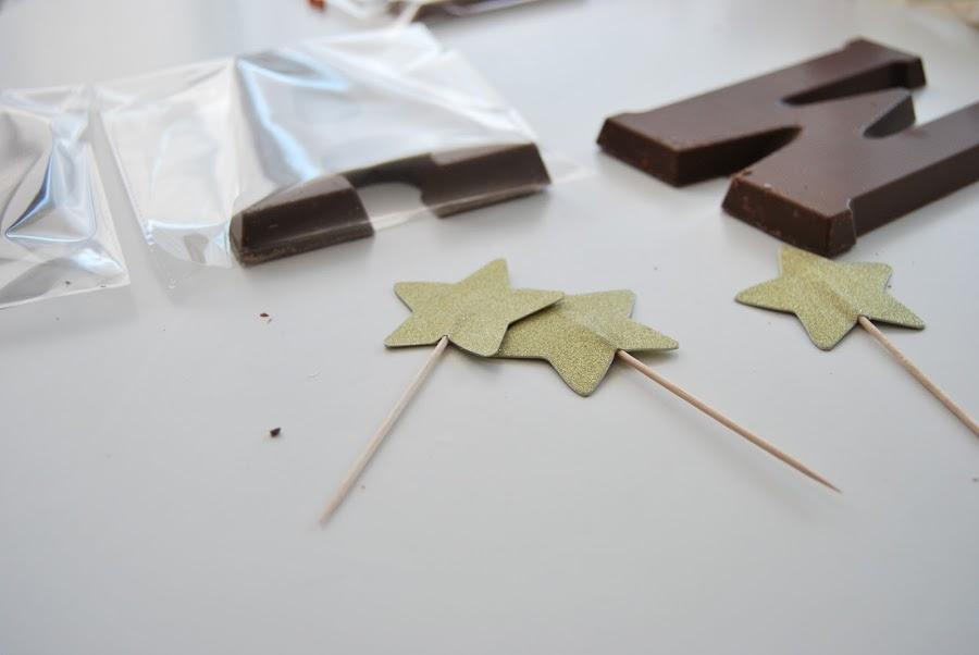 Letra de chocolate para regalar