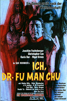 Face of Fu Manchu Poster Christopher Lee