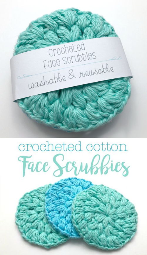 Crocheted Cotton Face Scrubbies - Free Pattern