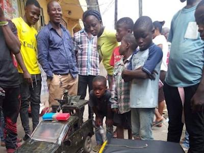 Young Boy Makes a Mark, Fabricates Miniature Vehicles. PHOTOS