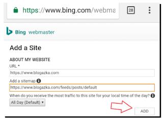 Submit blog ke Bing Webmaster