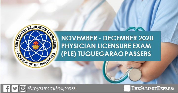 Tuguegarao PLE RESULT:  November-December 2020