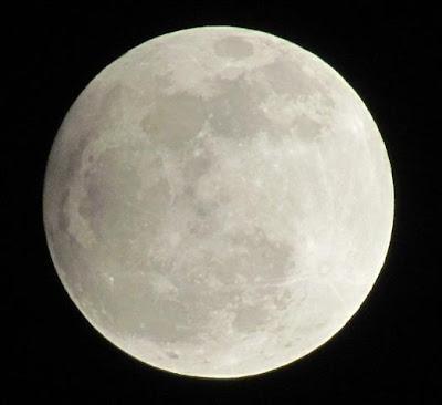 ירח בשלב ליקוי צל חלקי