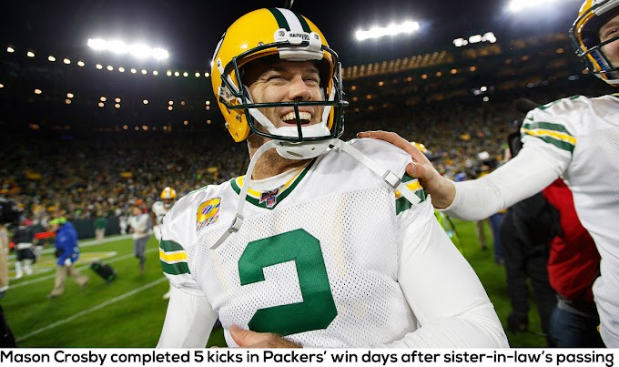 Mason Crosby completed 5 kicks in Packers' win days after sister-in-law's passing