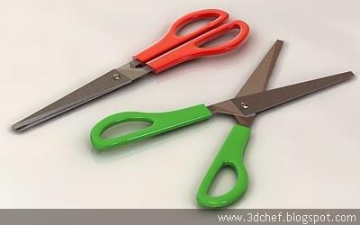 scissor 3d model free