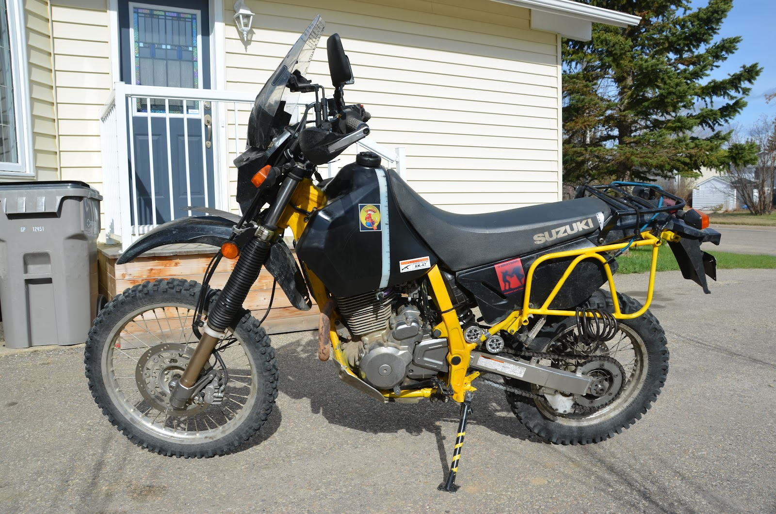 Yellow DR650 repaint/rebuild & pics - Horizons Unlimited