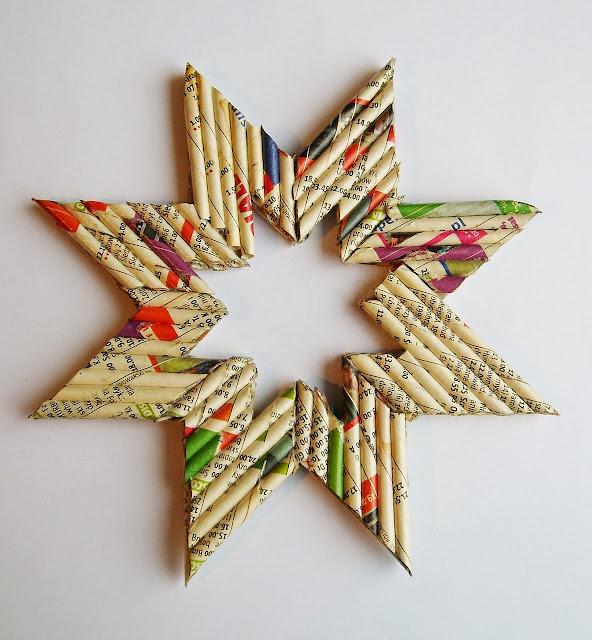 gwiazdka z papierowej wikliny