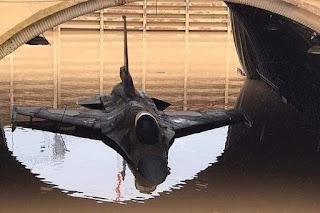 Kasus Jet Tempur F-16 Israel Terendam Banjir