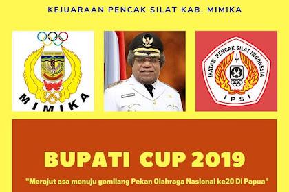 Pertandingan Pencak Silat Berebut Piala Bupati Cup di Timika 2019