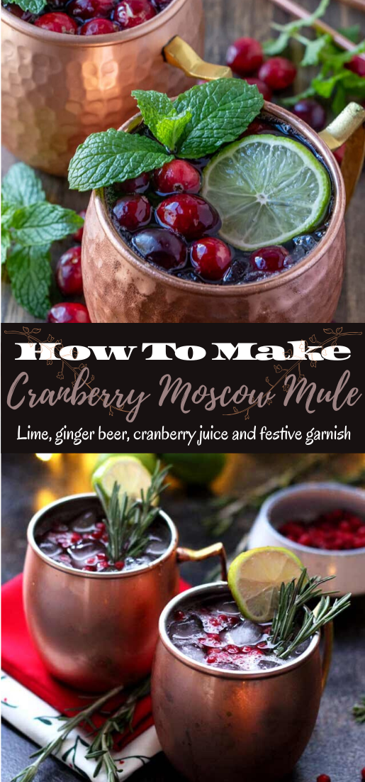 Cranberry Moscow Mule #healthydrink #easyrecipe #cocktail #smoothie