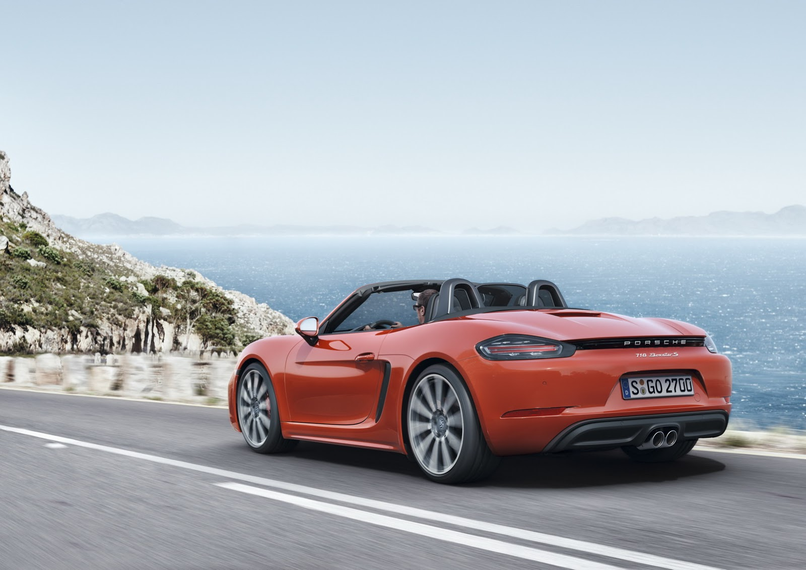 porsche 718 boxster revealed with new turbo d 4 cylinder engines w video carscoops