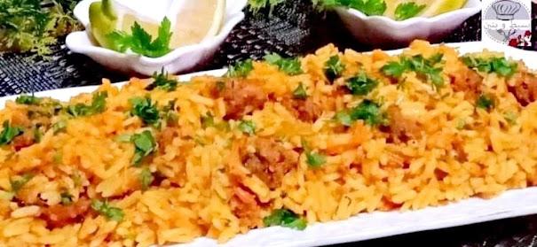 الأرز باللحم المفروم و تشكيلة من الخضر.. وصفات طبخ