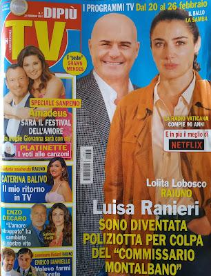 Luisa Ranieri copertina dipiù tv moglie luca Zingaretti Montalbano