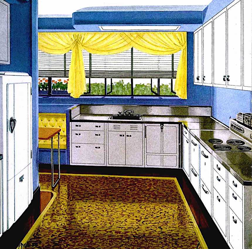 1937 kitchen illustration