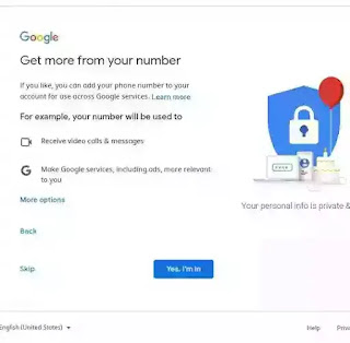 More use of google services by mobile number.