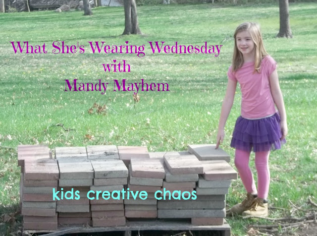 What she's wearing Kids purple tutu fashion Mayhem