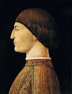 A portrait of Sigismondo by Piero della Francesca, painted in about 1451