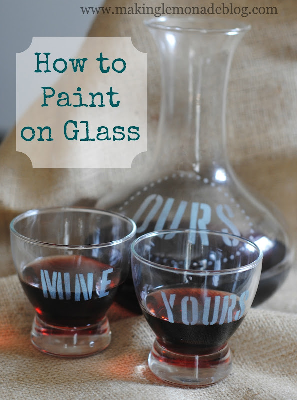 How to Paint Glass Using Martha Stewart Glass Paint {DIY Vintage Inspired Glassware Set}