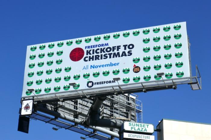 Freeform Kickoff to Christmas November billboard