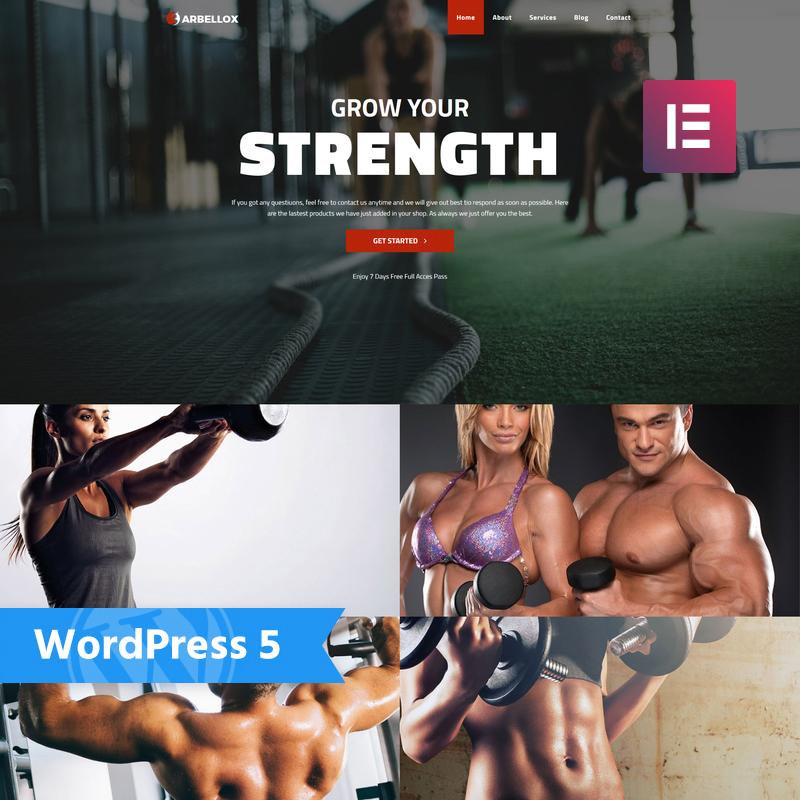 Barbellox - Gym Multipurpose Modern Elementor WordPress Theme