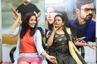Actress Suma in Black Salwar Suit and Anusuya in orange Dress at winner movie press meet part 2 February 2017 (85).JPG