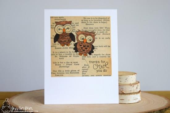 Owl card by Jess Gerstner | What a Hoot Stamp Set & Die Set by Newton's Nook Designs #newtonsnook