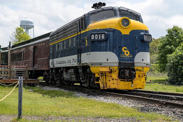 C&O F3Au 8016 at the NC Transportation Museum