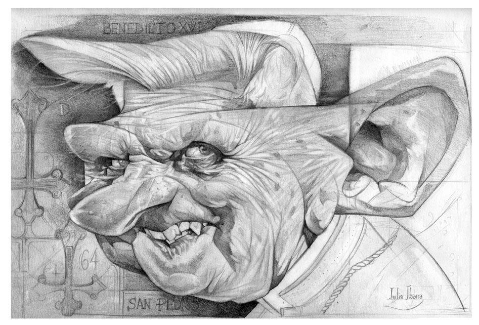 """""""Benedicto XVI"""" por Julio Ibarra"""
