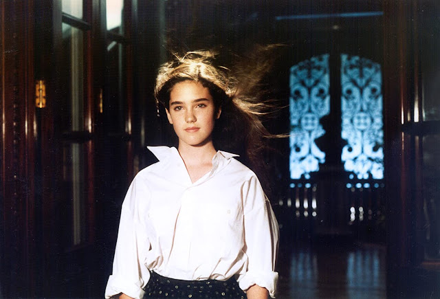 Jennifer Connelly sebagai Jennifer Corvino di film Phenomena (1985)