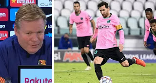 'We need someone else to take spot-kicks if Messi isn't here': Koeman