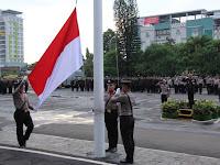 Upacara Bendera Peringatan Hari Lahir  Pancasila ke 79 Tahun 2019 di Polresta Bandar Lampung