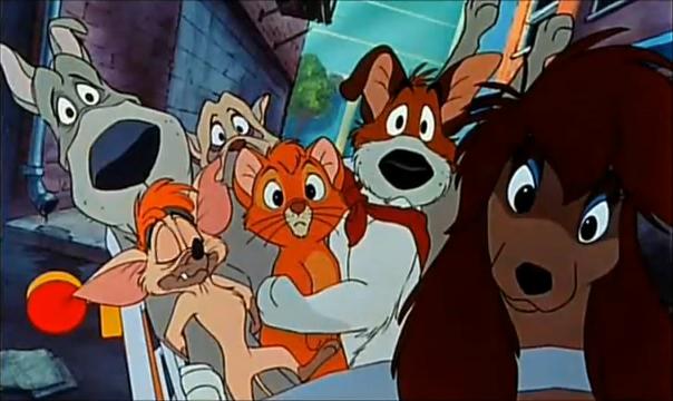 Fagin's crew Oliver and Company 1988 animatedfilmreviews.filminspector.com