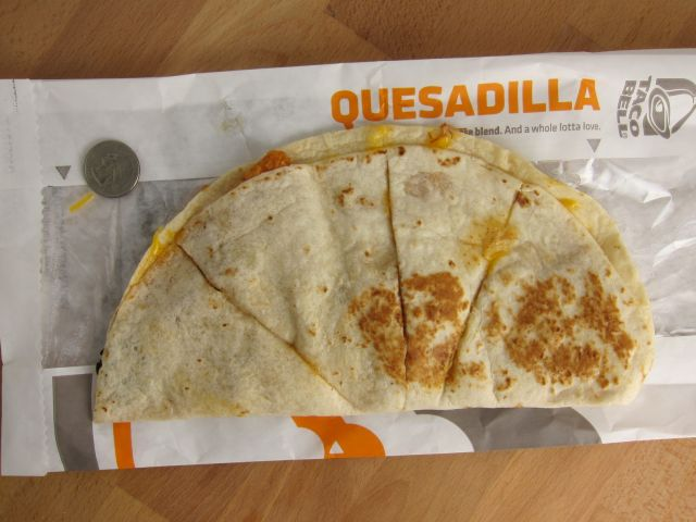 Review Taco Bell - Crispy Chicken Quesadilla  Brand Eating-1957
