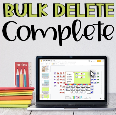 How to bulk delete items using a computer