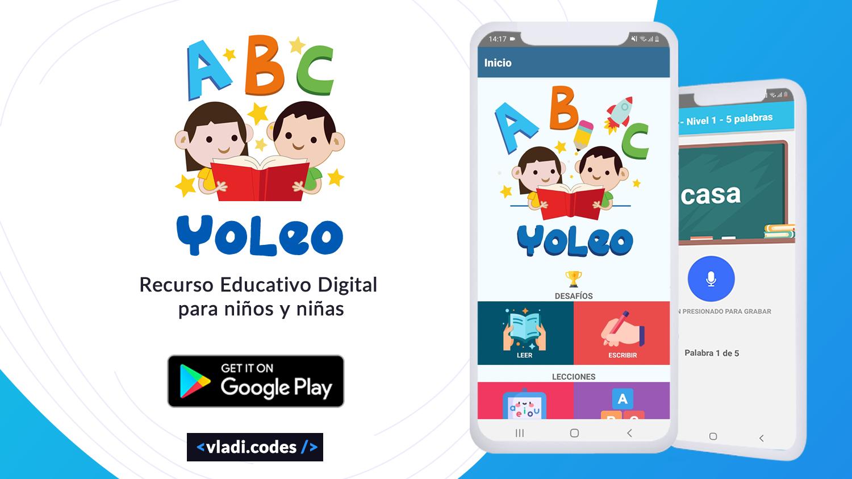 YoLeo App educativa para niños, aprende a Leer y a Escribir