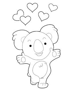 דוב קואלה חמוד לצביעה