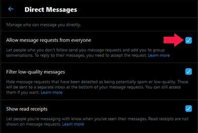 Cara Aktifkan DM Twitter