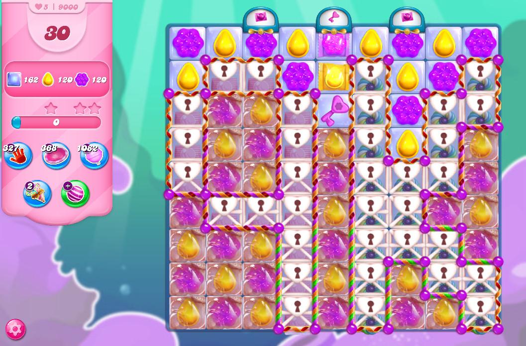 Candy Crush Saga level 9000