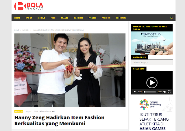 Hanny Zeng Hadirkan Item Fashion Berkualitas yang Membumi