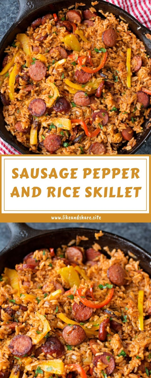 Sasusage Pepper And Rice Skillet