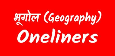 Quiz No. - 177 | Geography Oneliners : भूगोल वनलाइनर सामान्य ज्ञान प्रश्न।
