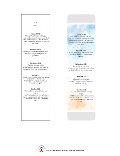 A bookmark with 5 bible verses