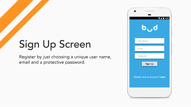 Android app UI and UX : bud signup