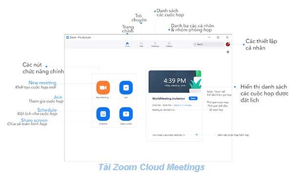 Cách sử dụng phần mềm Zoom Cloud Meetings b