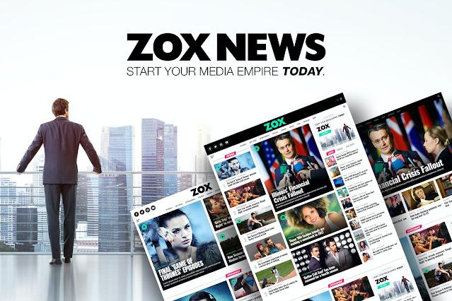 Download Gratis Zox News - Professional WordPress News & Magazine